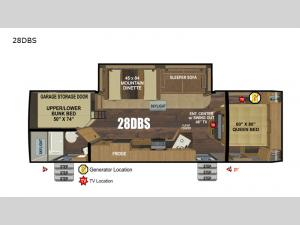 Back Country Series MTN TRX 28DBS Floorplan Image