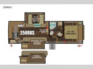 Black Stone Mountain Series 250RKS Floorplan Image