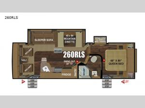 Black Stone Mountain Series 260RLS Floorplan Image