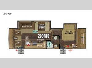 Black Stone Mountain Series 270RLS Floorplan Image