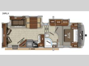 Eagle HTX 26RLX Floorplan Image
