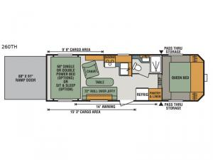 Sportster 260TH Floorplan Image