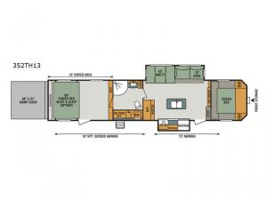 Sportster 352TH13 Floorplan Image