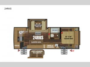 Timber Ridge Mountain Series 24RKS Floorplan Image