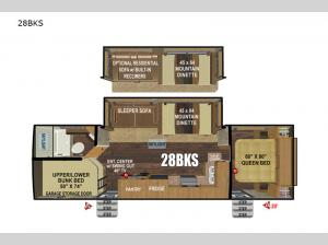 Timber Ridge Mountain Series 28BKS Floorplan Image