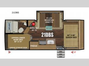 Creek Side Mountain Series 21DBS Floorplan Image