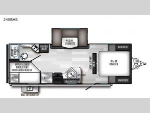 SolAire Ultra Lite 240BHS Floorplan Image