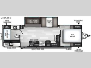 SolAire Ultra Lite 258RBSS Floorplan Image