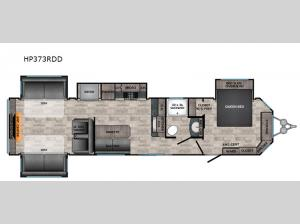 Hampton HP373RDD Floorplan Image
