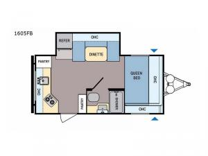 Coleman Light LX 1605FB Floorplan Image