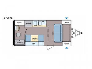 Coleman Light LX 1705RB Floorplan Image