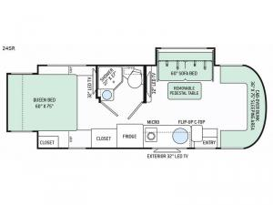 Citation Sprinter 24SR Floorplan Image