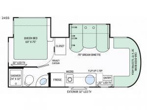 Citation Sprinter 24SS Floorplan Image