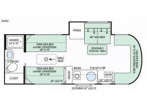 Citation Sprinter 24SV Floorplan Image