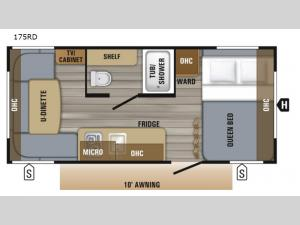 Jay Flight SLX 7 175RD Floorplan Image