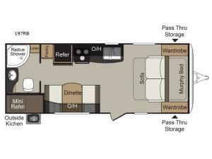 Passport 197RB Express Floorplan Image