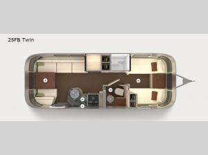 International Serenity 25FB Twin Floorplan Image