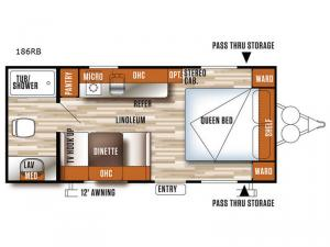 Salem Cruise Lite FS 186RB Floorplan Image