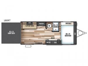Salem Cruise Lite FS 180RT Floorplan Image