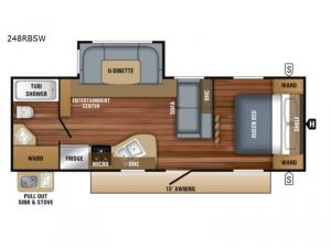 Jay Flight SLX Western Edition 248RBSW Floorplan Image