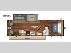 Jay Flight SLX Western Edition 285RLSW Floorplan Image