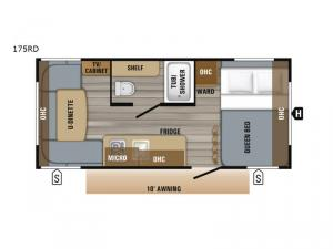 Jay Flight SLX Western Edition 175RD Floorplan Image