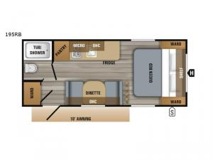 Jay Flight SLX Western Edition 195RB Floorplan Image