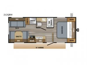 Jay Flight SLX Western Edition 212QBW Floorplan Image