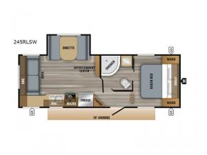 Jay Flight SLX Western Edition 245RLSW Floorplan Image