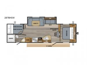 Jay Flight SLX Western Edition 287BHSW Floorplan Image