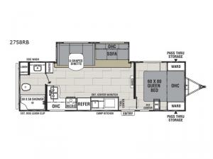Spirit Ultra Lite 2758RB Floorplan Image