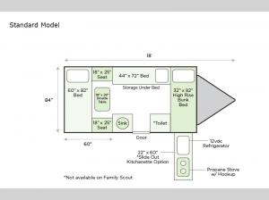 Family Scout Standard Model Floorplan Image
