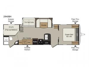 Passport 2940BH Grand Touring Floorplan Image