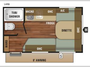 Autumn Ridge Outfitter 14RB Floorplan Image