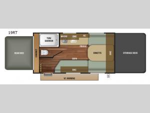 Autumn Ridge Outfitter 19RT Floorplan Image