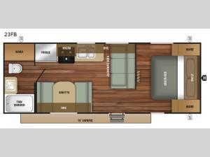 Autumn Ridge Outfitter 23FB Floorplan Image