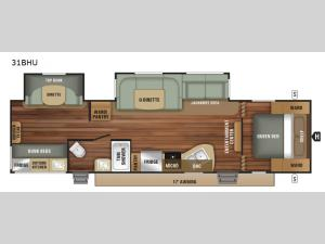 Autumn Ridge Outfitter 31BHU Floorplan Image
