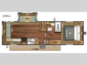 Autumn Ridge Outfitter 255RLS Floorplan Image