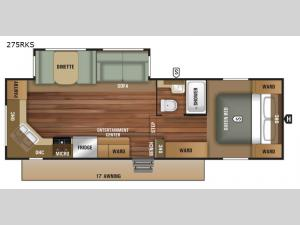 Autumn Ridge Outfitter 275RKS Floorplan Image