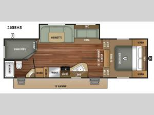Autumn Ridge Outfitter 265BHS Floorplan Image