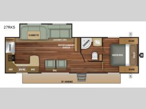 Autumn Ridge Outfitter 27RKS Floorplan Image