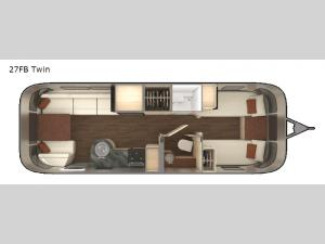 International Serenity 27FB Twin Floorplan Image