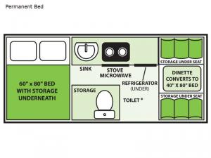 Expedition Permanent Bed Floorplan Image