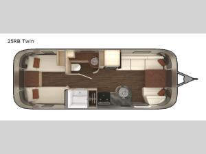 International Serenity 25RB Twin Floorplan Image
