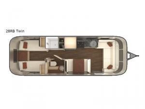 International Serenity 28RB Twin Floorplan Image