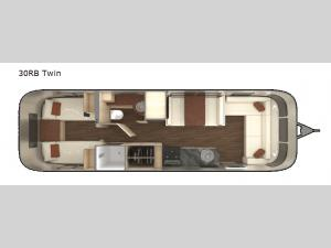 International Serenity 30RB Twin Floorplan Image