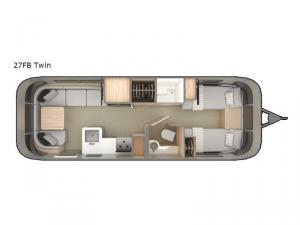 Globetrotter 27FB Twin Floorplan Image