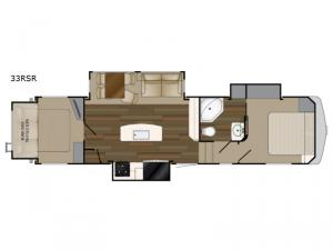 ElkRidge 33RSR Floorplan Image