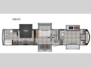 Redwood 3981FK Floorplan Image