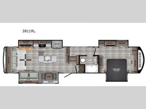Redwood 3911RL Floorplan Image